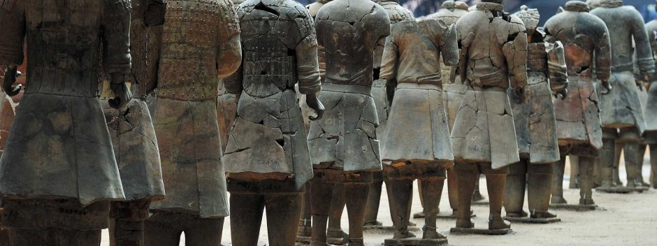The terracotta warriors (Pit #1) outside Xi'an, Shaanxi Province, CHINA