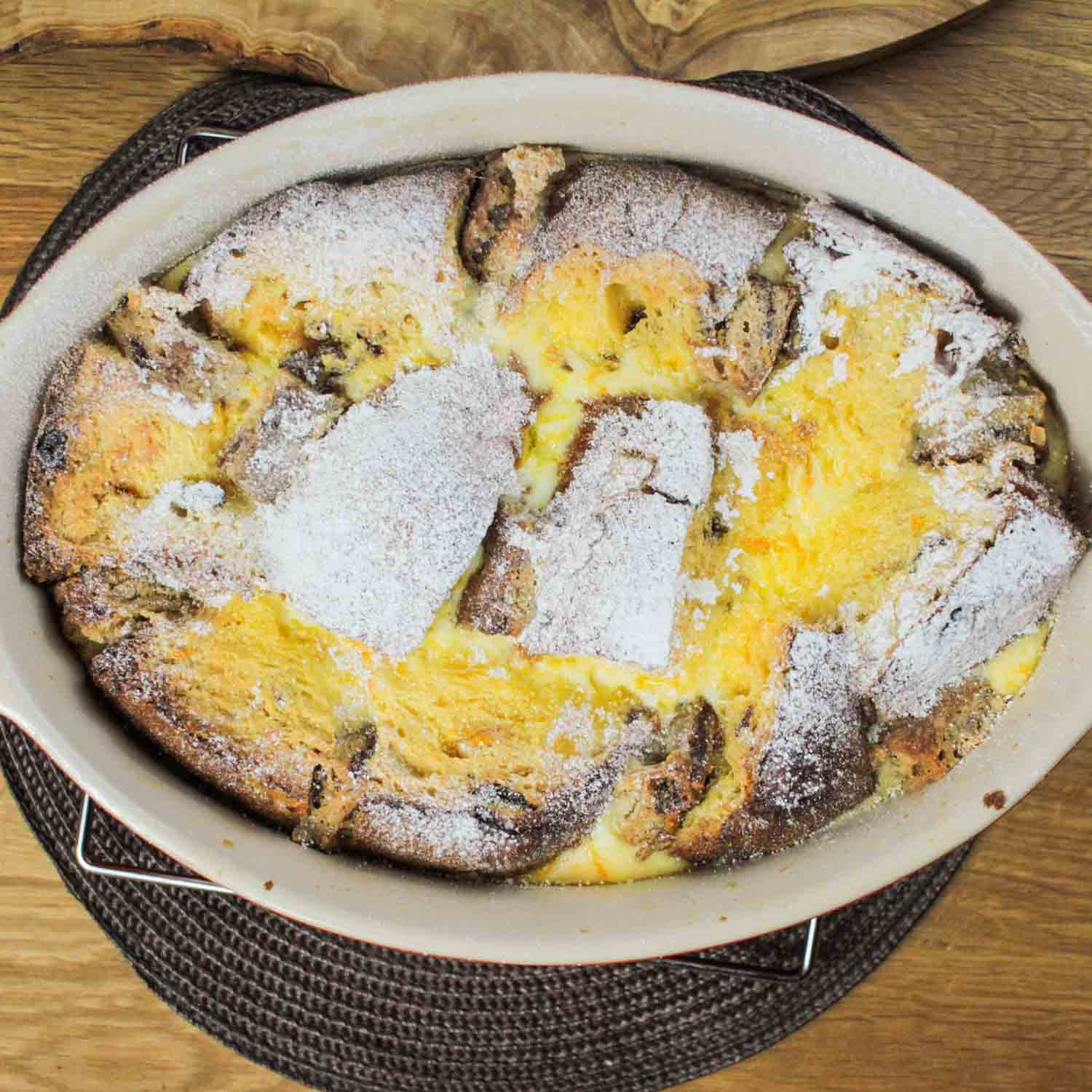panettone and stollen bread butter pudding recipe