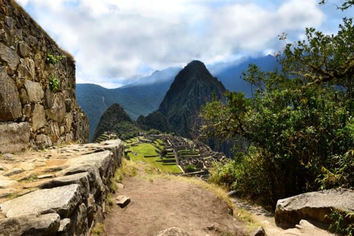 Inca Trail leading to Machu Picchu