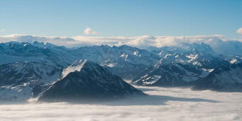 Schweiz Schlitteln Rodeln Rigi