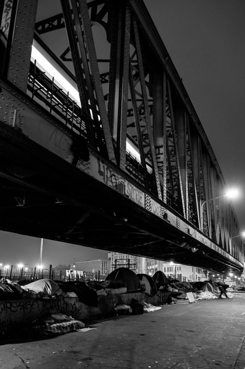 Paris Obdachlose Zeltstadt