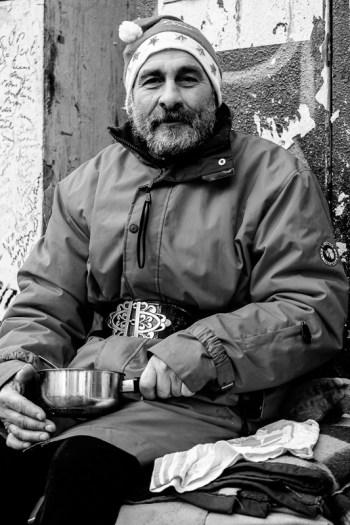 Paris Obdachloser an Weihnachten
