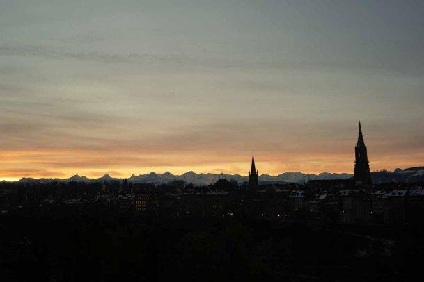 Bern Sonnenaufgang
