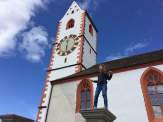 Von der Bergkirche in Hallau geniesst man eine wahnsinns Aussicht