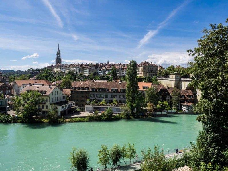 Bern: Sicht vom Bärengraben