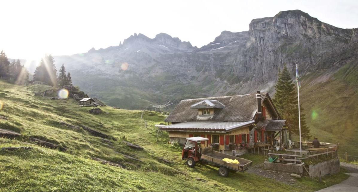 Die Chrüzhütte auf der Bannalp