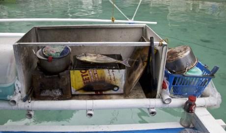.... gekocht wurde auf einer einfachen Bootsküche