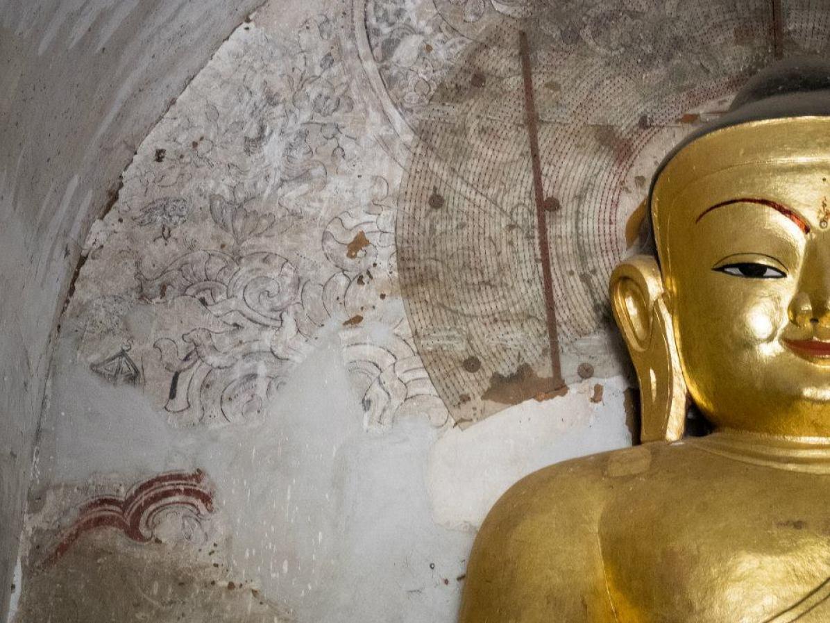 Myanmar Buddhismus Statue
