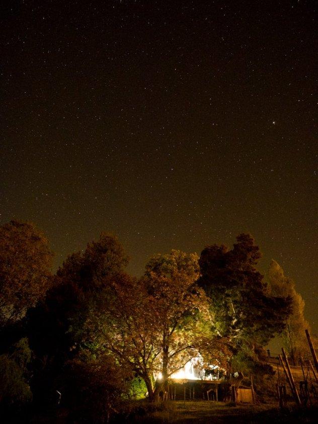 Schlafen unter dem Sternenhimmel
