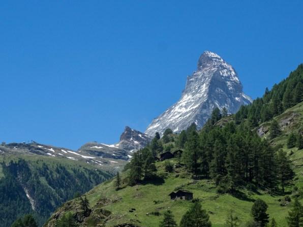 Das Matterhorn von Zermatt aus