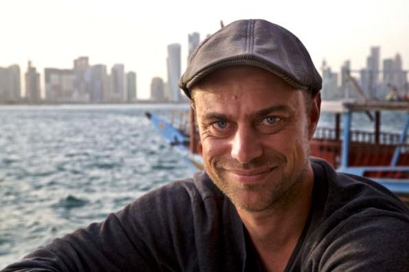 Autor Martin Hoch unterwegs auf einer Dhow