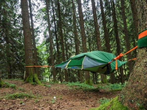 Camping im Baumzelt