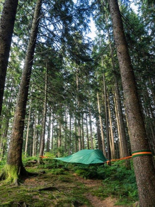 Das Baumzelt auf dem Pilatus ein Erlebnis für Camper
