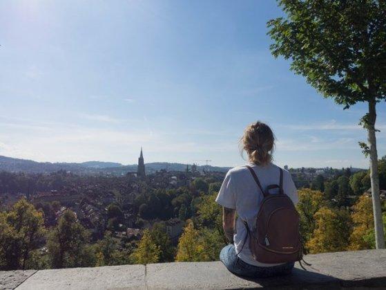Ausblick über Bern vom Rosengarten