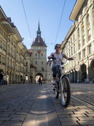Authorin Alexandra cruised durch Bern