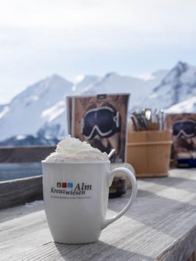 Kaffepause auf der Hütten