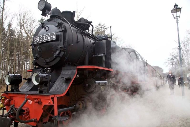 Mit der Molli-Bahn gehts nach Bad Doberan