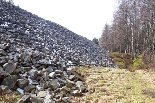 Nicht einfach ein Steinhaufen, sondern ein keltischer Wall.