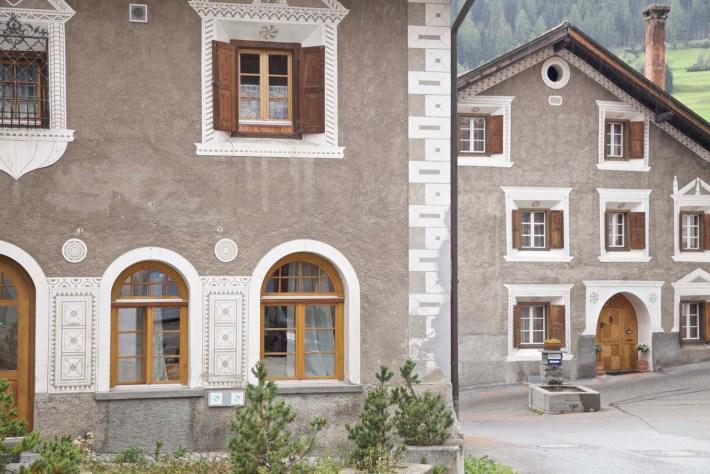 Dorf Berguen im Albulatal