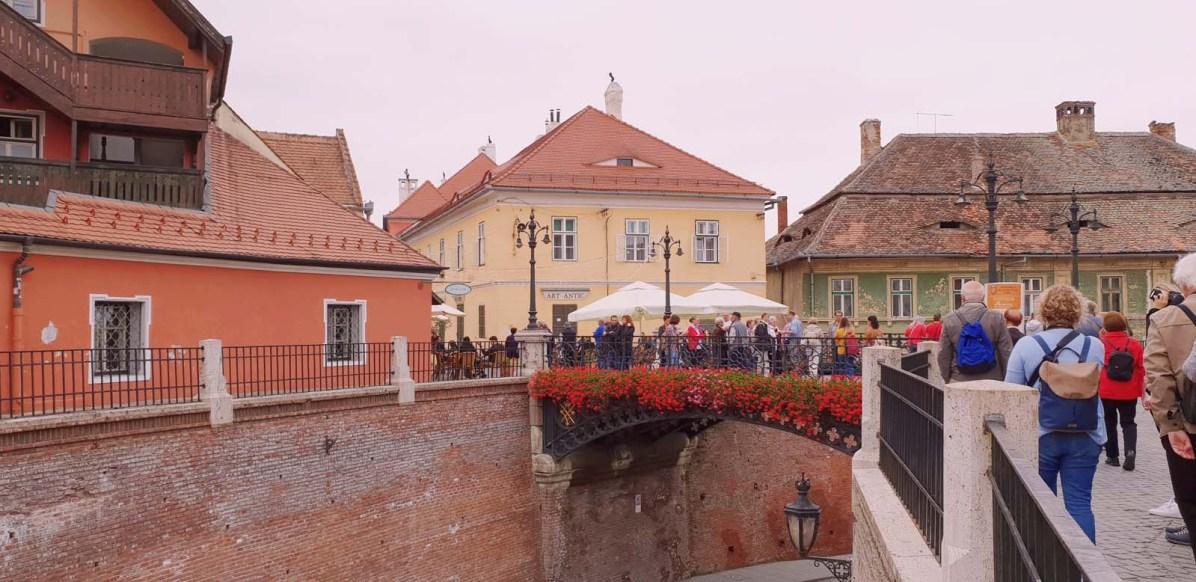 Die Lügenbrücke in Sibiu (Hermannstadt) ist eine wichtige Sehenswürdigkeit.