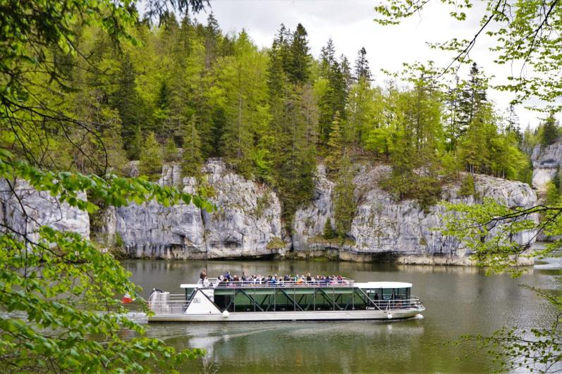 Mit dem Schiff zurück zum Lac des Brenets. © Eva Hirschi