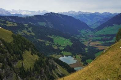 Aussicht auf den Lauenensee und die Berge. © Eva Hirschi
