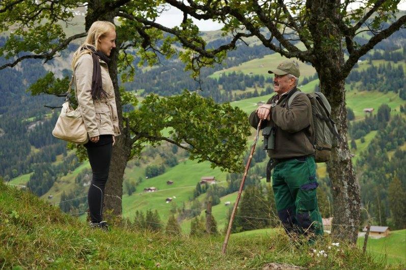 Bloggerin Eva Hirschi mit Guide Christian Würsten.