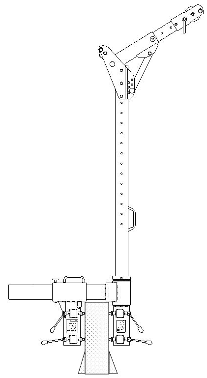 Adjustable Davit Base Clamp Socket for the G.Davit