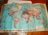 carte monde André Brugiroux