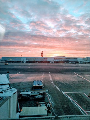 Sunset at London Heathrow airport