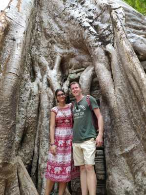 Our choice of clothes for visiting Angkor Wat