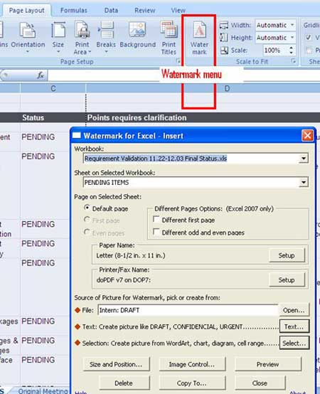 How to Insert Printed Watermark in Excel Sheets? – Globinch