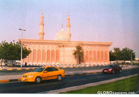 Sharjah United Arab Emirates Sharjah view from highway