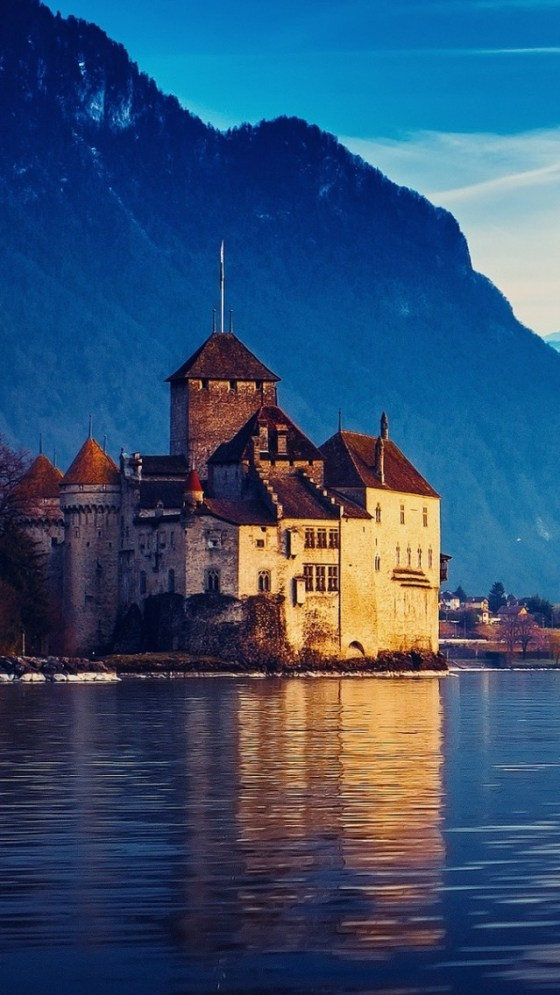 Castle Chillon near Montreux, Lake Geneva, Switzerland