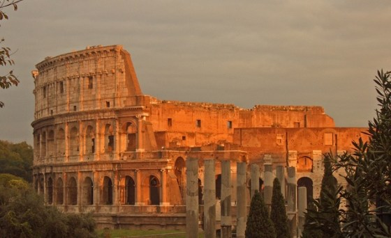the-roman-colosseum-at-sunset