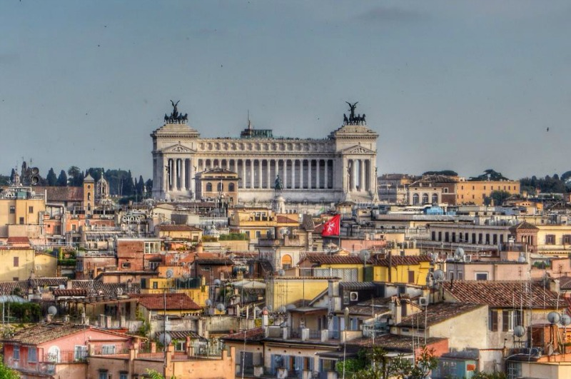 Rome City From Above