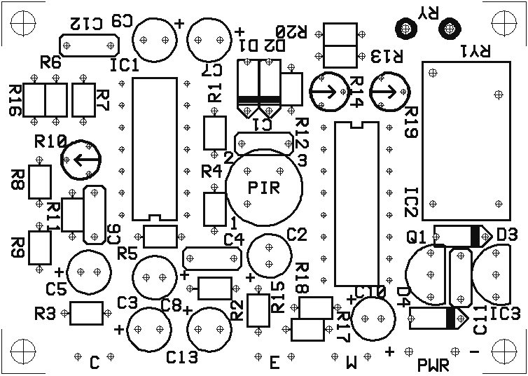 PC Board Layout for Motion Detector