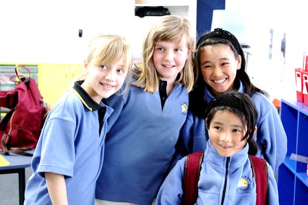 ニュージーランド親子留学先の小学校での子供達の様子