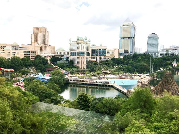 マレーシアの首都クアラルンプールは大都会でありつつもまだまだ大きく発展中!Sunway International Schoolから見たクアラルンプールの景色。