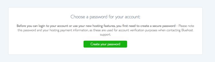 Choose your password.