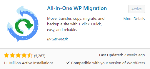 All-in-one WP Migration plugin. Free services boost your online business.