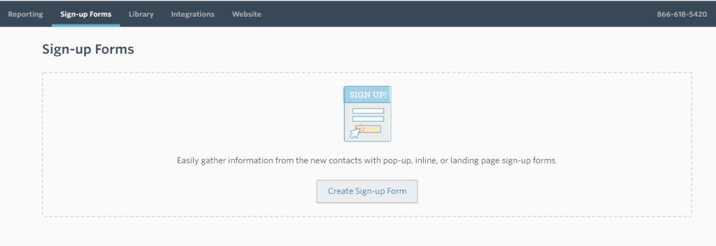 Sign up form.