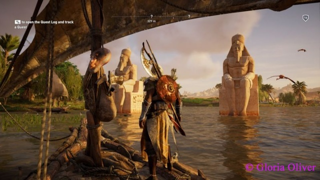 Statues in the waters of Alexandria