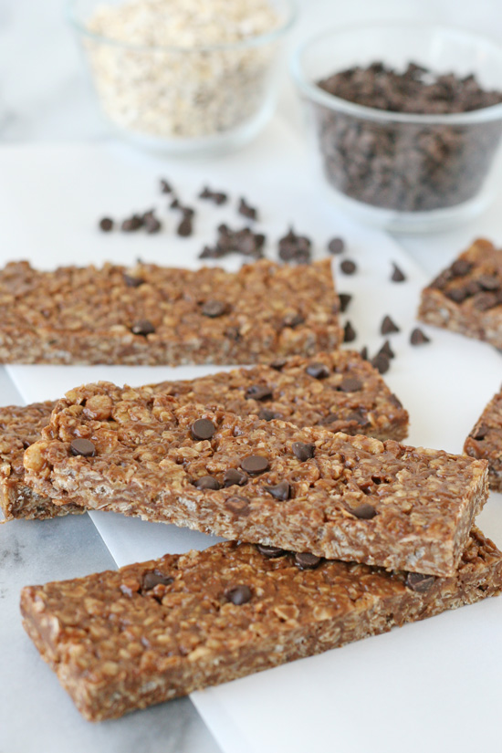 Peanut Butter Chocolate Chip Granola Bars Glorious Treats