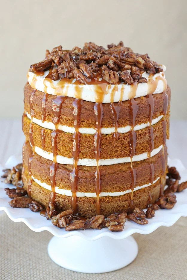 Pumpkin Salted Caramel Cake Glorious Treats