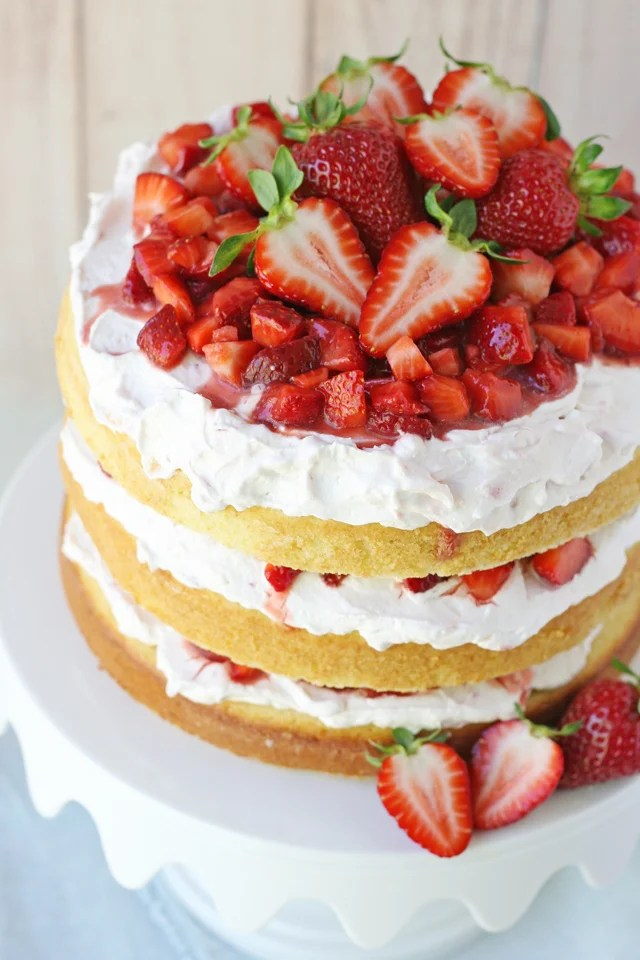 The Best Strawberry Shortcake Cake Glorious Treats