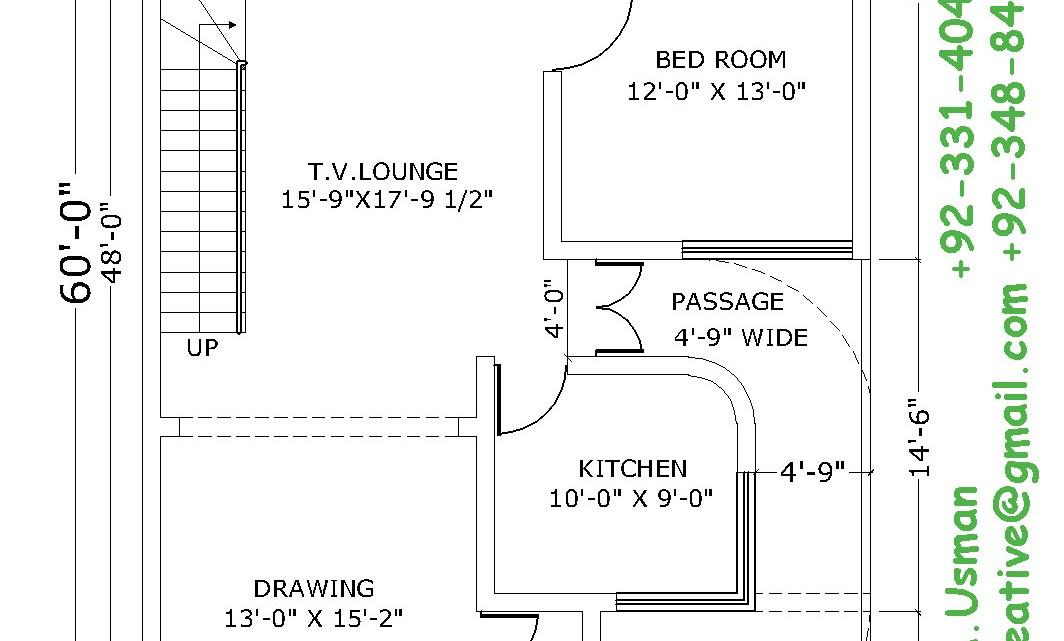 30×60 House plan, 6 marla house plan