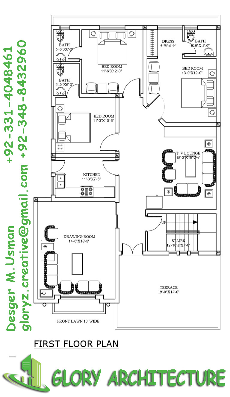 10 marla house plan, 12 marla house plan
