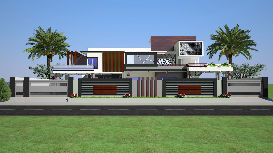 2 KANAL HOUSE BOUNDARY WALL DESIGN