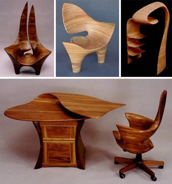 table and chair unique design idea